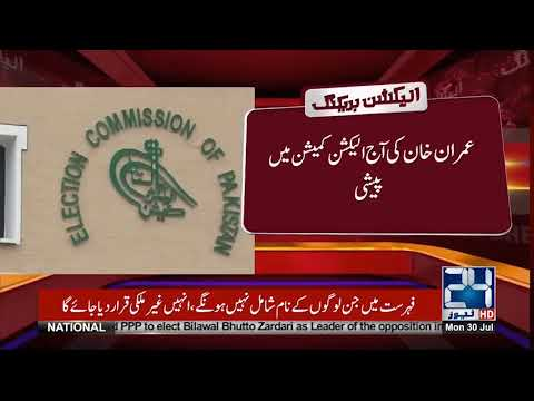 Imran Khan To Appear In Election Commission Today | 24 News HD