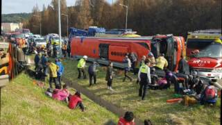 Tourist bus flipped on its side on a highway in Daejeon Killed 4 Tourists