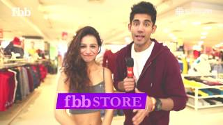 Varun Sood and Benafsha Soonawala at fbb store