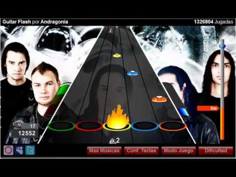 Jugando al Guitar Hero Flash!Guitar flash-Andragonia