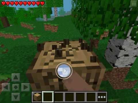 Let's play Minecraft Pocket Edition #1 - Первый день