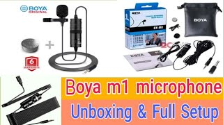 Boya m1 microphone unboxing and full Setup Bangla||Technical Araf