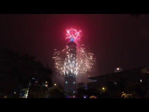 HAPPY NEW YEARS TAIPEI- Revelers ring in 2016 with fireworks show