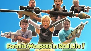 Fortnite Weapons in Real Life! | DavidsTV