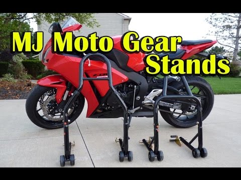 How To Use Motorcycle Stands - MJMotoGear Stands Review