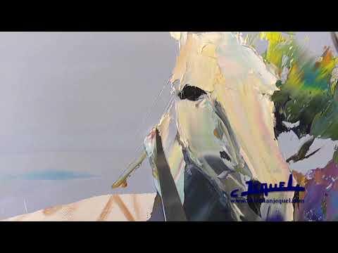 02 - Démonstration de peinture au couteau par Christian Jequel:
