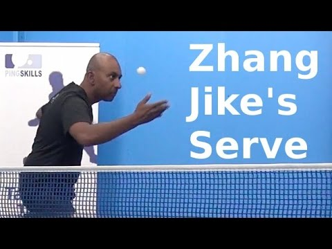 Zhang Jike's Serve | Table Tennis | PingSkills