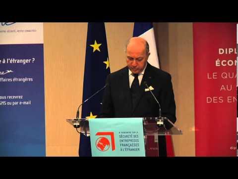 Discours de Laurent Fabius aux rencontres sur la sécurité des entreprises françaises à l'étranger