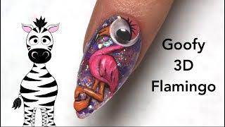 3D Goofy Flamingo Acrylic Nail Art Tutorial   Banggood.com