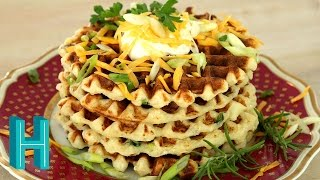 Mashed Potato Waffles! Hilah Cooking