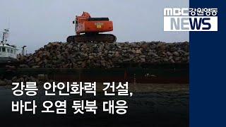 R:1]강릉 안인화력 바다 오염 뒷북 대응