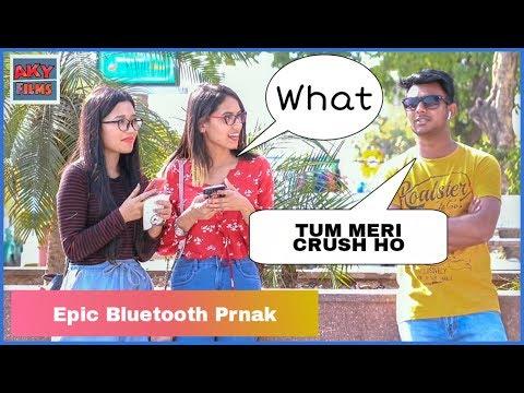 Epic Bluetooth Prank Part 2  RomanticTalk Flirting With Girls  AKY FILMS  