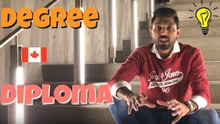 Which is better Diploma or Degree in Canada | Johny Hans | Punjabi Students in Canada 2018