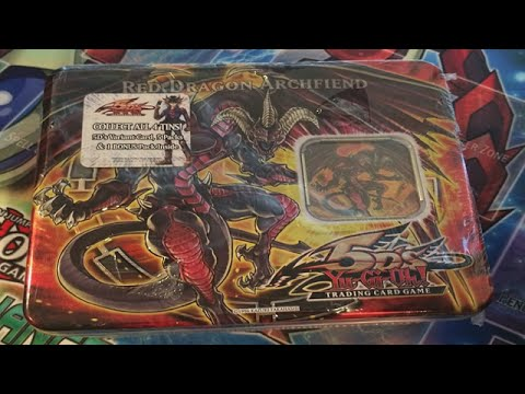 Yugioh 5d's Red Dragon Archfiend Tin Opening video