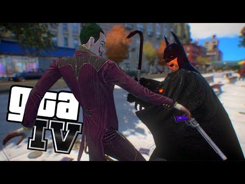 Batman e Batmovel Contra o Coringa - GTA IV Insano