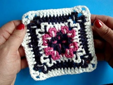 Вязание крючком - Урок250 Квадратный мотив Crochet granny square