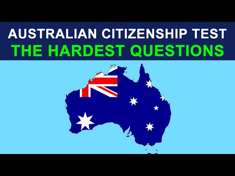 Australian Citizenship Test 2014 - Most difficult questions