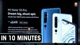 Xiaomi Mi Note 10/10 Pro launch event in 10 minutes