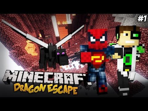 ŚMIERCIONOŚNY PARKOUR Z DELTIM! (Minecraft Mini-Game: Dragon Escape ODCINEK 1)