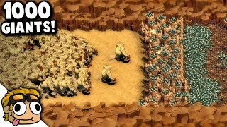 THE MOUNTAIN PASS, 1000+ Giants! | They Are Billions Custom Map Gameplay