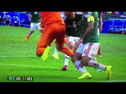 Robben penalty dive against Mexico