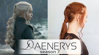Game of Thrones Daenerys Dragonstone Braided Ponytail Hairstyle