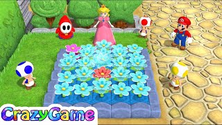 Mario Party 9 Garden Battle #6 Peach vs Toad vs Shy Guy vs Mario Gameplay (Master CPU)