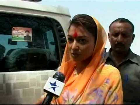 Priyadarshini Raje Scindia confident of husband's win