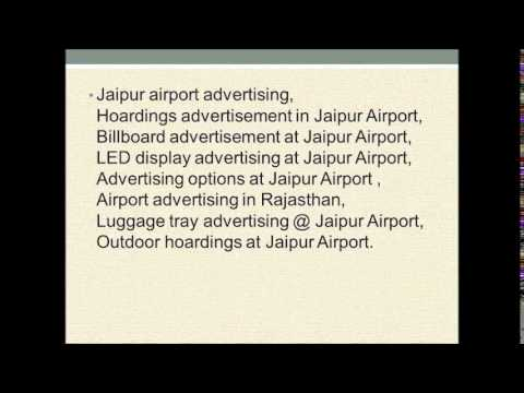 Jaipur International Airport Advertising ,Airport advertising services in India