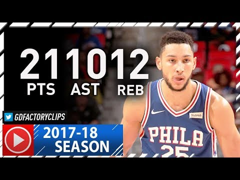 Ben Simmons 1st NBA Triple-Double Highlights vs Pistons (2017.10.23) - 21 Pts, 12 Reb, 10 Ast, SICK!