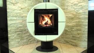 NORDIC Fireball (6kW) enamelled wood burning & multifuel stove