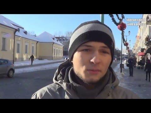 Młody Student Obnażył Hipokryzję Manifestacji KOD I Został Wygwizdany! - 23.01.2016, Białystok