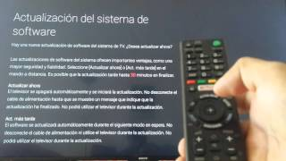 ACTUALIZACION SMART TV SONY 4K ANDROID 5.1.1