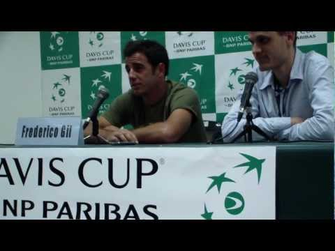 Davis Cup 2012 - Israel vs Portugal - 1st rubber - Press conference with Frederico Gil
