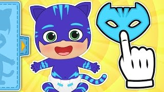 BABY PJ MASKS Gameplay with Catboy and Owelette PJ Masks ❤️ Baby Cartoons Games