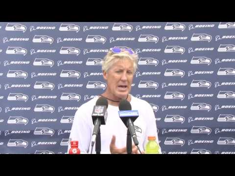 Seahawks Head Coach Pete Carroll Training Camp Day 1 Press