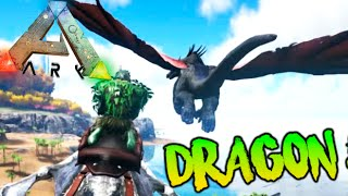 REX CON BLINDAJE VS DRAGON DE UN SUSTO + CUEVAS !! ARK SURVIVAL EVOLVED MODS Makigames