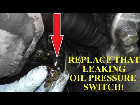 Oil Pressure Switch Replacement with Basic Hand Tools 1080HD