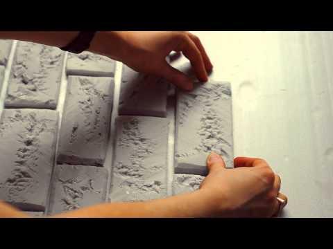 Стена из пенопласта под кирпич