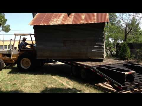 Moving large shed ( historical smoke house ) from one location in Euless tx to another. Picked up wi