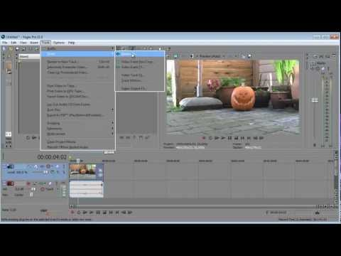 Sony vegas pro 11: How to