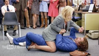 Funny Physical Fight Scene Between Will Ferrell and Christina Applegate | Anchorman (2004)