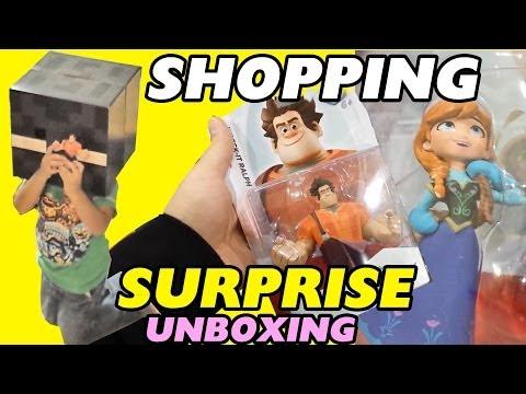 Disney Infinity Shopping: Wreck It Ralph + Frozen Toy Box Set - Surprise / Unboxing
