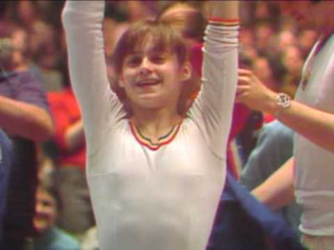 Nadia Comaneci - Floor Exercise - 1976 American Cup Video