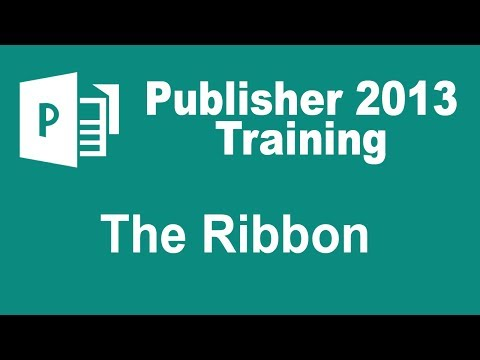 Microsoft Publisher 2013 Training - The Ribbon