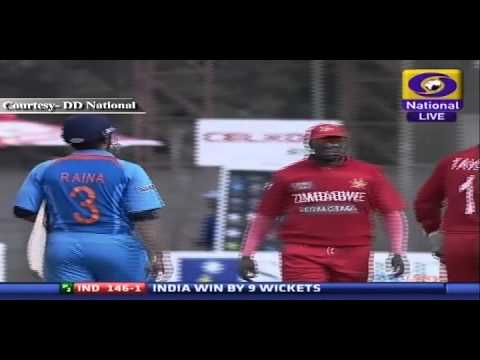 India beats Zimbabwe by 9 Wickets