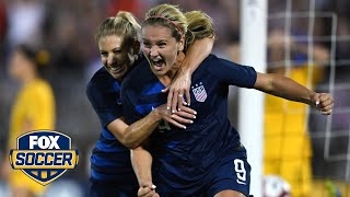 Lindsey Horan scores equalizer in the 90th minute | 2018 TOURNAMENT OF NATIONS