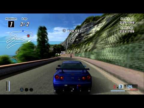 PCSX2 Gran Turismo 4 PC: Nissan Skyline R34 GTR on Costa di Amalfi