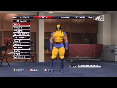 How To Make Wolverine (The X-Men) On Smackdown VS Raw 2011 ( Tutorial ) By markus0hyeah