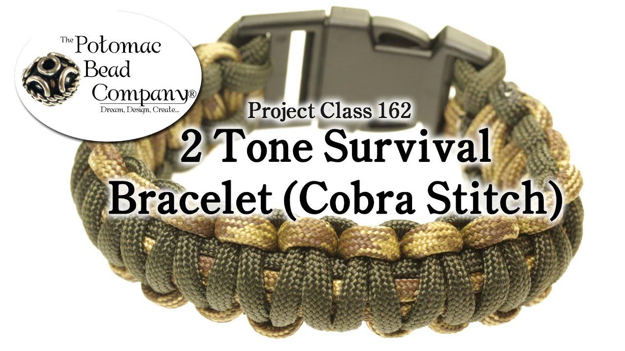 Stitched Paracord Bracelet Bracelet Cobra Stitch